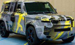 Land Rover has revealed a prototype of the SUV Defender