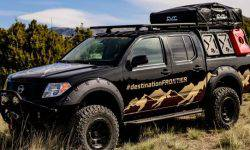Nissan added the Navara pick-up tent on the roof