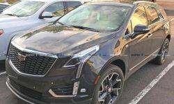 The journalists came across the updated crossover of Cadillac XT5