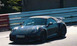 Porsche 911 Turbo S Cabrio has been spotted at the Nurburgring
