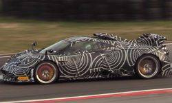 Pagani beginning of the test the most powerful model Huayra Dragon