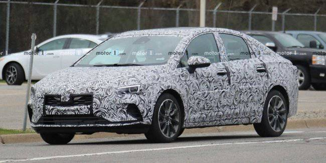 The Network first came photos of the updated sedan Buick Verano
