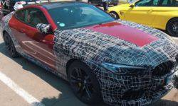"""BMW M8 filmed on the """"Nordschleife"""" with minimal camouflage"""