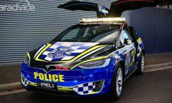 Australian police received the first electric car Tesla Model X