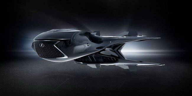 """Lexus unveiled space car-transformer for the """"Men in black"""""""