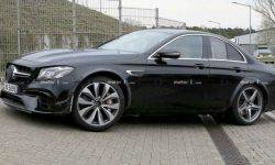 A strange prototype of a new Mercedes SL-class caught on the tests