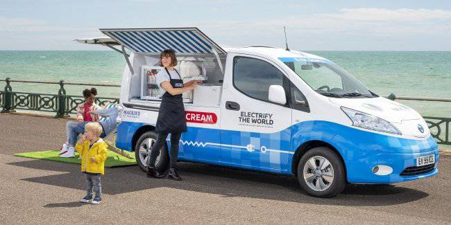 Nissan shows a conceptual ice cream van with zero emissions