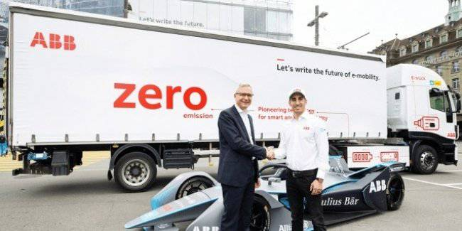 ABB has introduced its own electric truck with a power reserve of 500 km