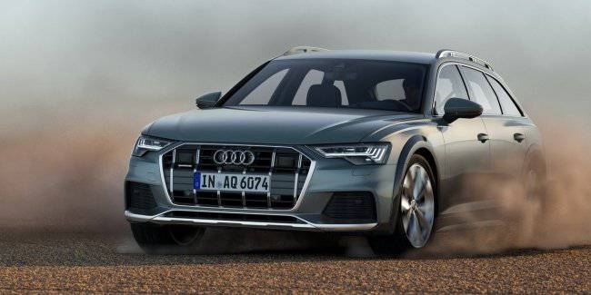 Audi has presented for Europe a new off-road wagon Audi A6 Allroad
