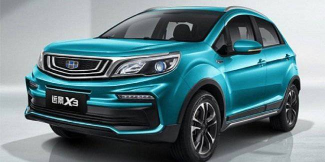 Geely presented the updated compact crossover X3 Vision 2019