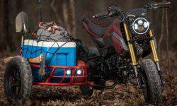 Industrial Moto is Honda Grom with a stroller