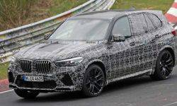 The new BMW X5 M undergoing testing at the Nurburgring