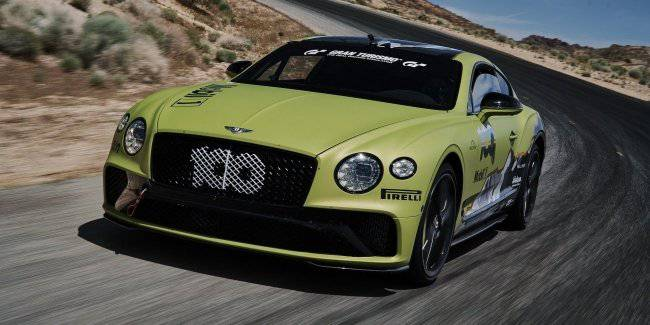 Bentley revealed the Continental GT coupe to a new record pikes Peak