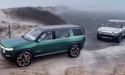 Rivian electric cars can be recharged from each other
