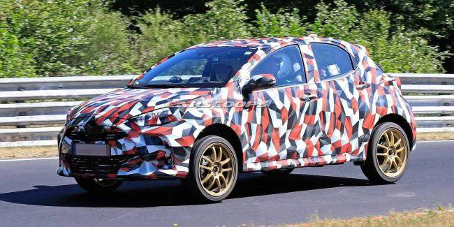 Prototypes of the new generation Toyota Yaris spotted at nürburgring race track