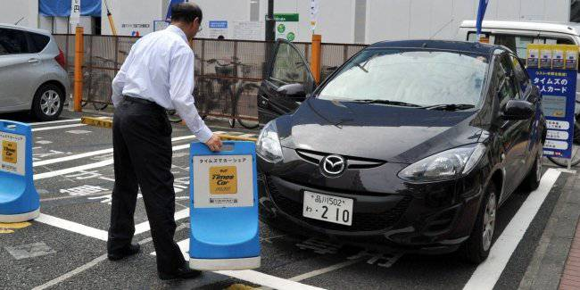 The Japanese use car sharing for sleep and rest