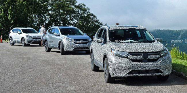 In the Network appeared the first photos of the updated crossover Honda CR-V in 2020