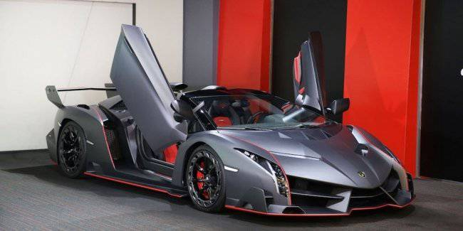 Exclusive Lamborghini Veneno Roadster was put up for sale
