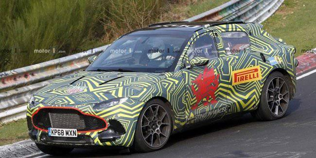 Aston Martin is testing the crossover at a speed of 300 km/h