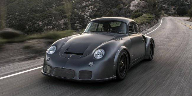 Old sports car Porsche has turned into a crazy hot rod
