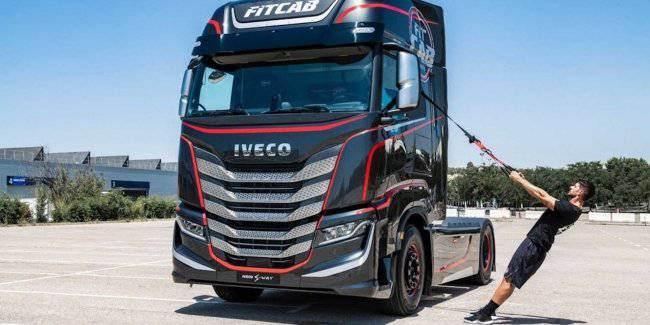 Iveco showed a truck with a gym in the cabin