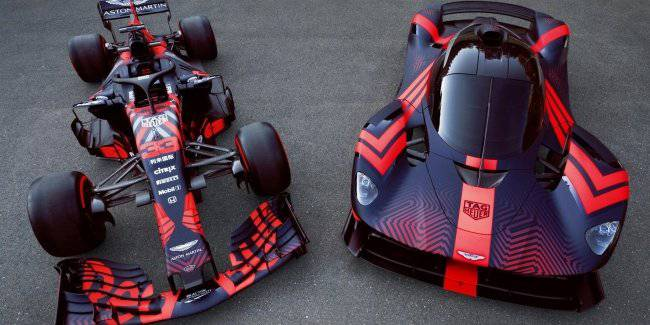 1145-strong hypercar Aston Martin Valkyrie appeared on the track