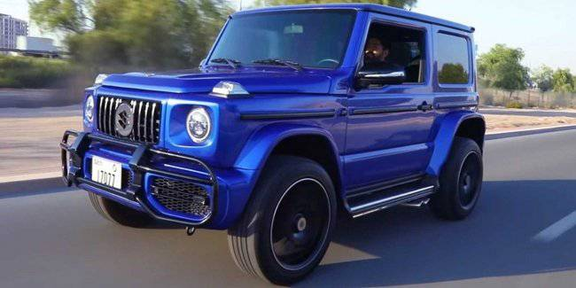 An exact copy of the Mercedes-Benz G-Class based on the Suzuki Jimny