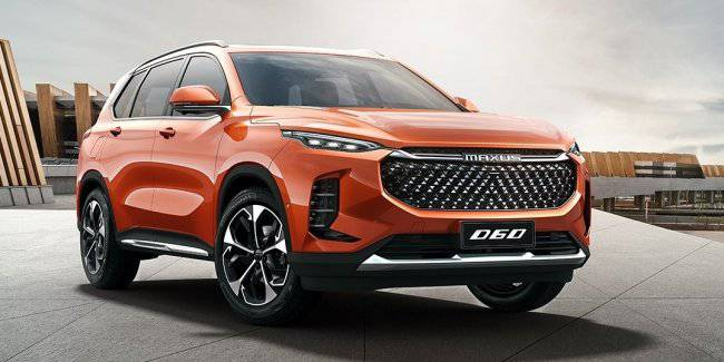 Brand Maxus showed the public its first crossover Maxus D60
