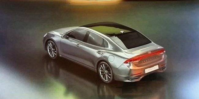 Premium sedan Hyundai has declassified before the premiere