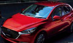 There were photos of the updated hatchback Mazda2