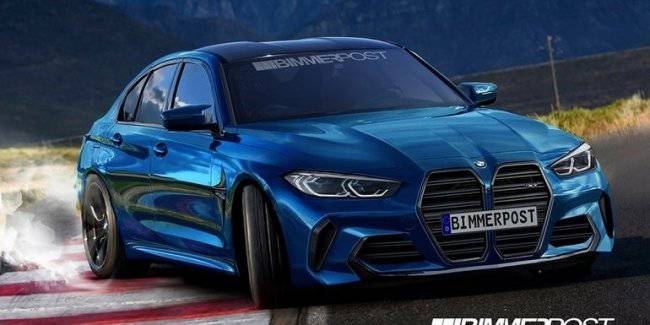 Shows the first images of the new BMW M3