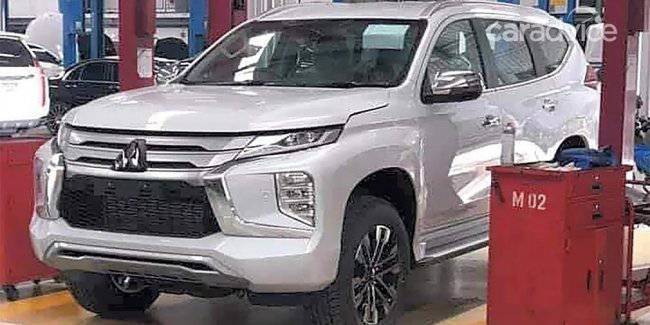 The design of the updated Mitsubishi Pajero Sport was unveiled at the spy photos