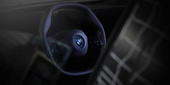 BMW invented a new steering wheel for the new electrocreaser