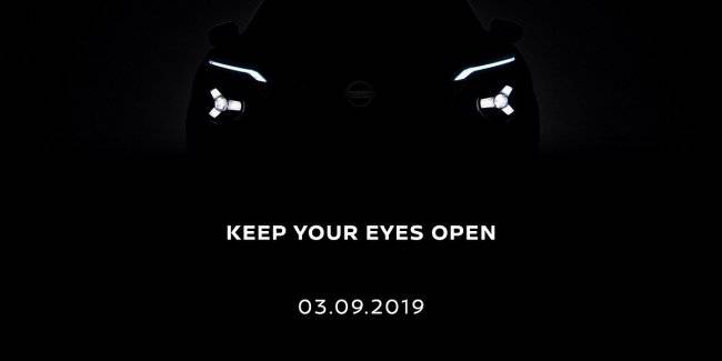 Nissan published a teaser of the new Juke 2020