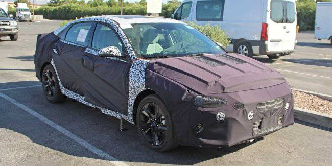 The first pictures Hyundai Elantra next generation