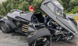 "You cannot restore to sell: ""the Batmobile"" for $1.3 million Lamborghini engine broke in the accident"
