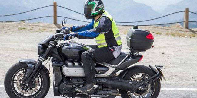 The production version of the Triumph Rocket 3 2020 model year filmed on tests