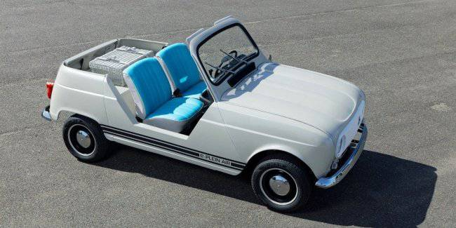 The iconic Renault 4 revived in the form of an electric convertible