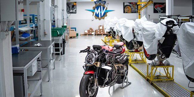 Motorcycles MV Agusta have taken only a couple of days