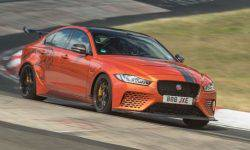 Jaguar XE SV Project 8, the world's fastest sedan, broke his own lap record of the nürburgring Nordschleife