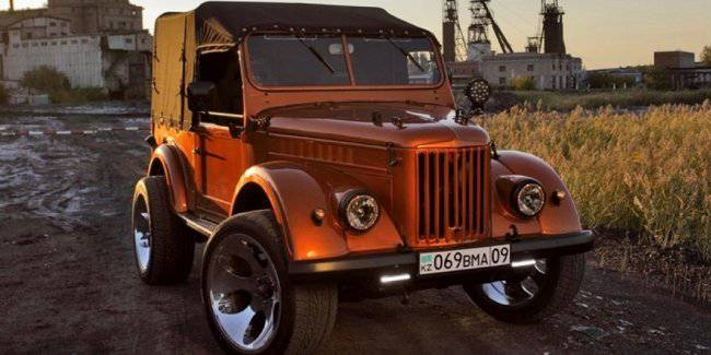 """Shows the updated GAZ-69 """"Goat"""""""