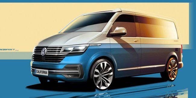 Volkswagen has published sketches updated house on wheels
