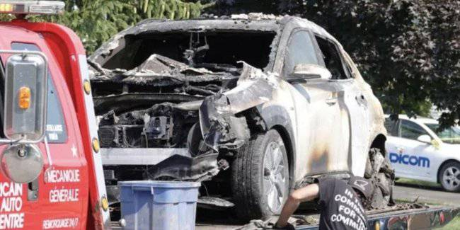 "Kona Hyundai electric car caught fire and ""exploded"" in the garage in the canadian"