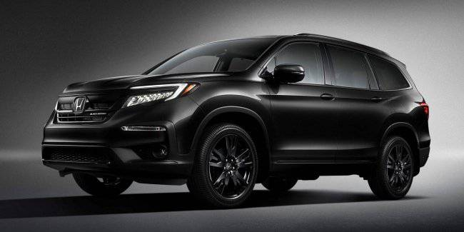 Updated Honda Pilot has received the top version Pilot Black Edition