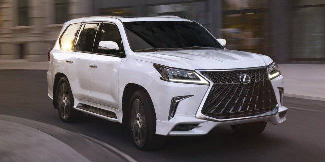 Updated Lexus LX received new design Sport package 2020