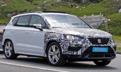 The tests seen a prototype of the updated crossover SEAT Ateca