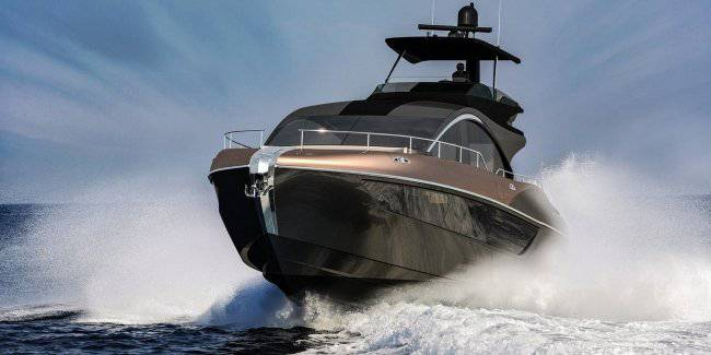 Lexus has published a teaser trailer yachts LY 650 Luxury Yacht