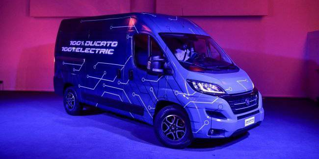 Fiat introduced an electric version of the van Ducato