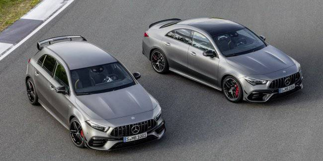 Mercedes-AMG showed a 421-horsepower compact cars-the A 45 and CLA 45