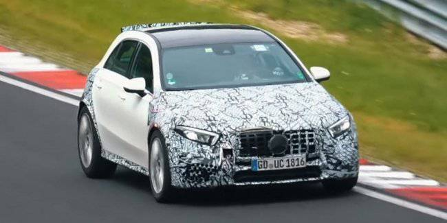 Latest Mercedes-AMG A45 brought to the high-speed tests